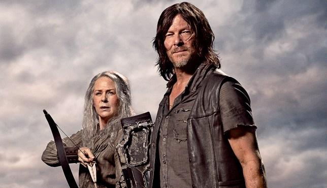 norman reedus and Melissa McBride in Walking Dead