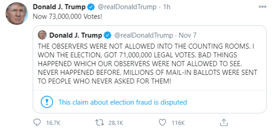 Donald Trump tweet screengrab