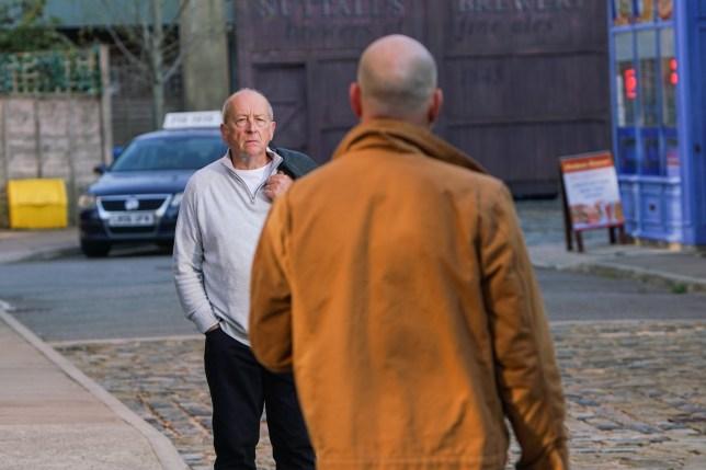 Geoff and Tim in Coronation Street