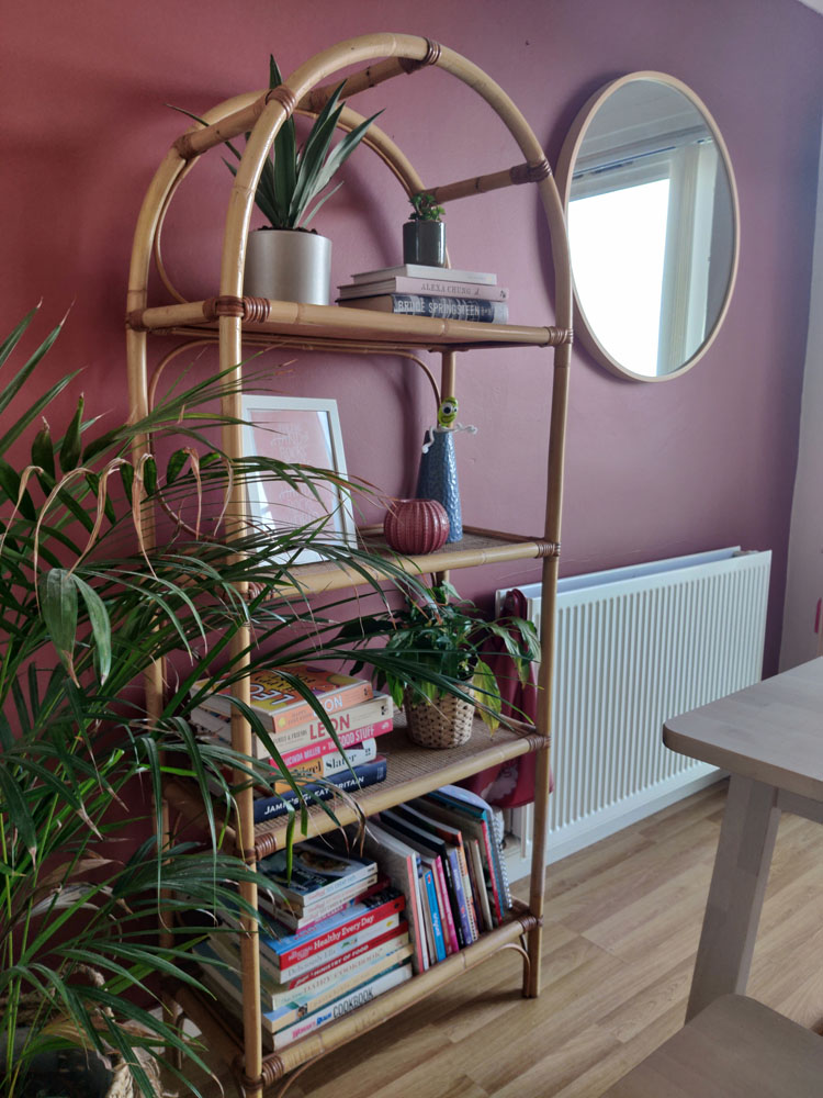 What I Rent: Megan, Falkirk - bookshelves next tto dining table