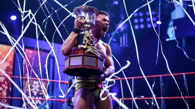 WWE superstar and NXT UK Heritage Cup champion, Spanish wrestler A-Kid