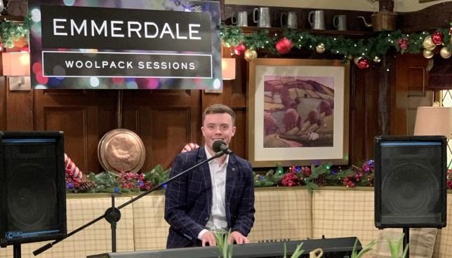 Bradley Johnson in Emmerdale's virtual Christmas party