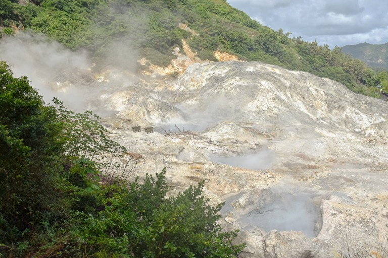 St Lucia is home to the world's only drive-in volcano, seen above (Picture: Sadie Whitelocks)