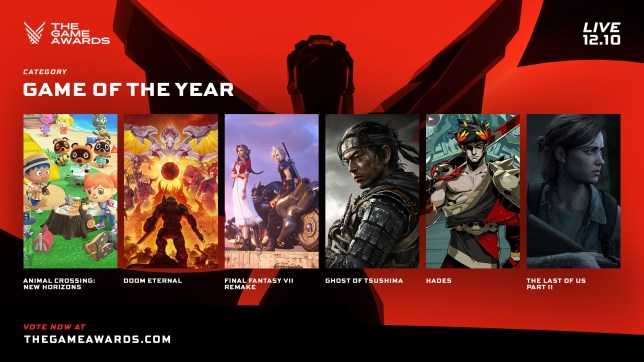 The Game Awards 2020 nominees Game of the Year