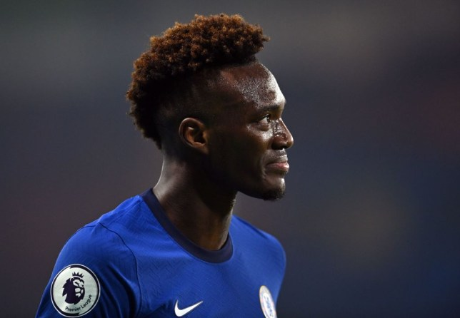 Tammy Abraham looks on during Chelsea's Premier League clash with Tottenham