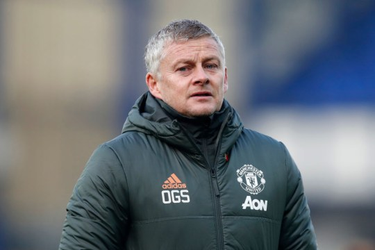 Ole Gunnar Solskjaer, Manager of Manchester United looks on during the Premier League match between Everton and Manchester United at Goodison Park on November 07, 2020 in Liverpool, England. Sporting stadiums around the UK remain under strict restrictions due to the Coronavirus Pandemic as Government social distancing laws prohibit fans inside venues resulting in games being played behind closed doors.