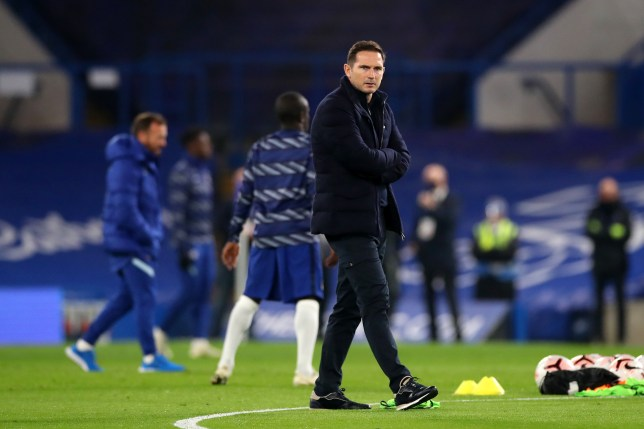 Frank Lampard looks on after Chelsea's win over Sheffield United in the Premier League