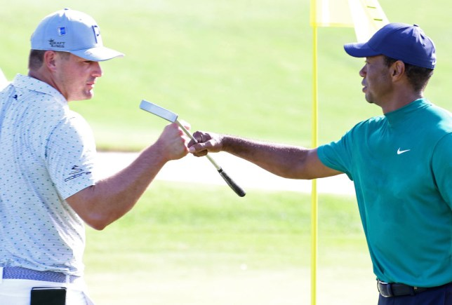 Tiger Woods practiced with Bryson DeChambeau on Tuesday