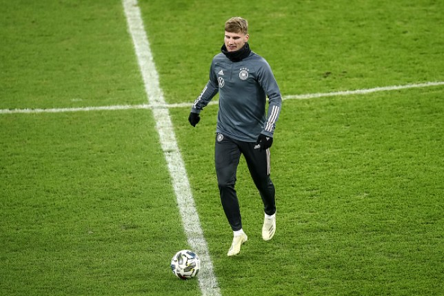 Chelsea star Timo Werner trains ahead of Germany's Nations League clash with Ukraine