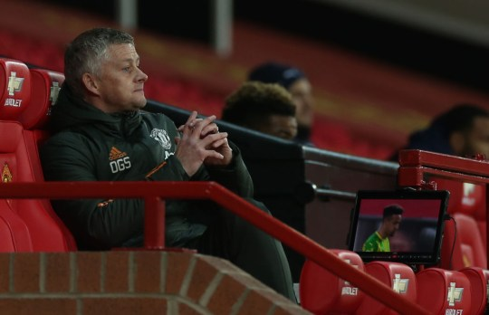 Ole Gunnar Solskjaer looks on during Manchester United's win over West Brom
