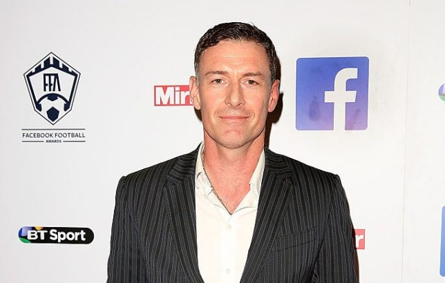 Former Chelsea striker Chris Sutton arrives at the inaugural Facebook Football Awards on May 26, 2015 in London, England.