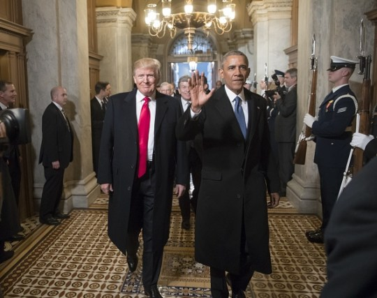 Trump and Obama at the 58th U.S. Presidential Inauguration
