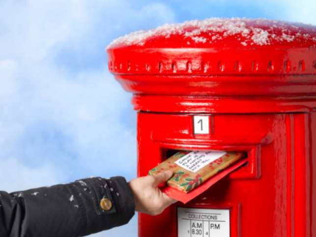 Posting gifts in mailbox