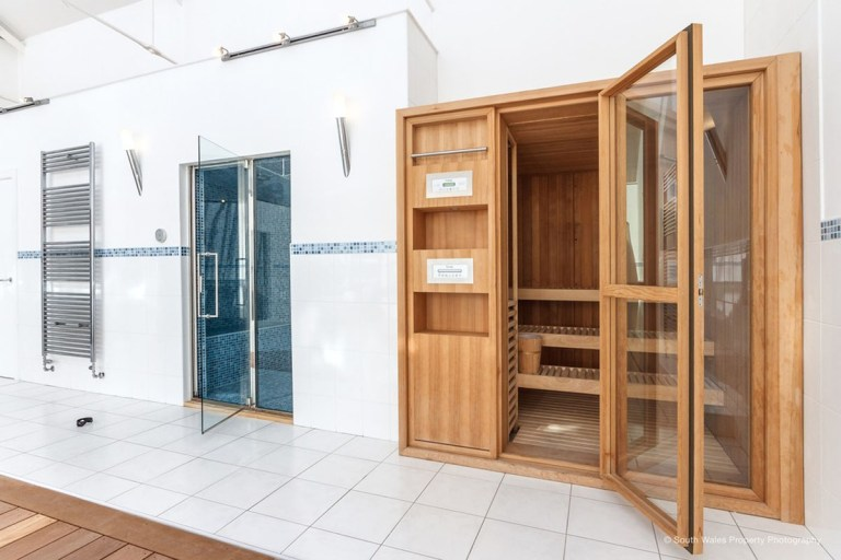 victorian municipal baths apartment on sale - sauna in the spa