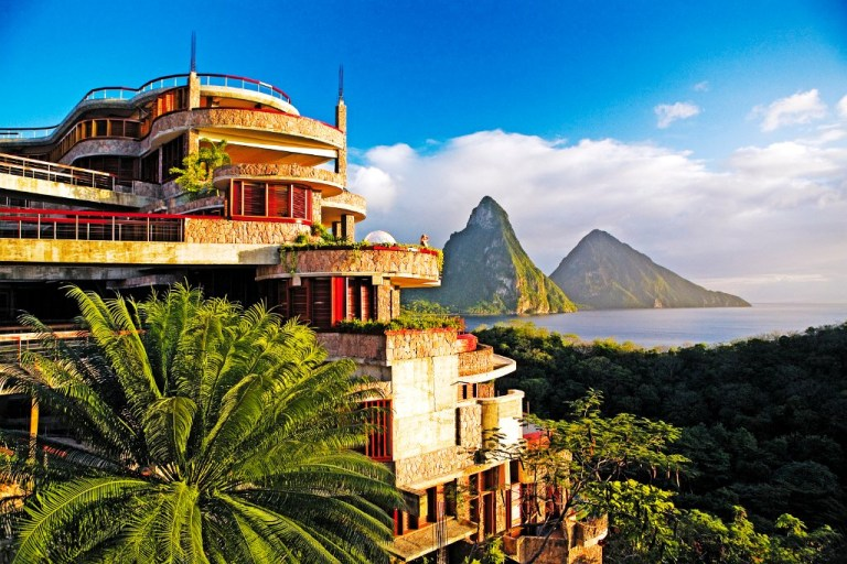 Jade Mountain is one of the top properties on St Lucia (Picture: Jade Mountain)