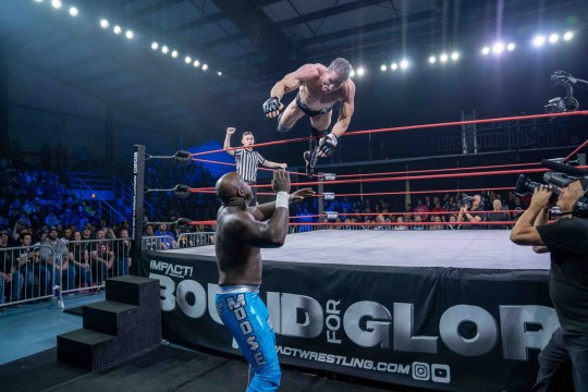 IMPACT Wrestling stars Ken Shamrock and Moose at Bound For Glory