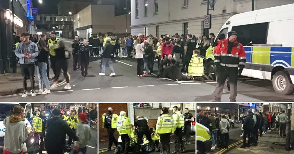 Police have been forced to undertake crowd control and make arrests at a street in Leamington Spa which regularly draws crowds of around 200 after the 10pm curfew