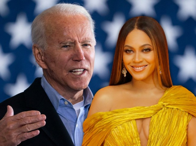 Beyonce and Joe Biden