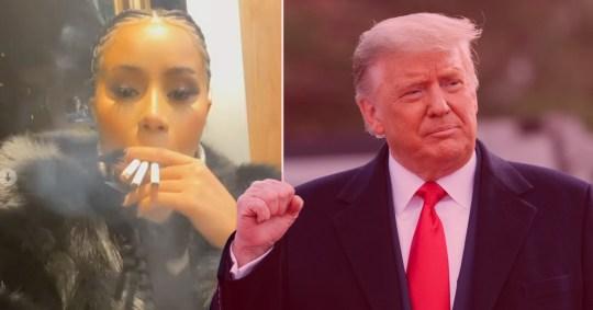 Cardi B and Donald Trump