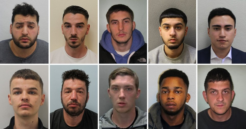 Composite image London's 10 most wanted criminals
