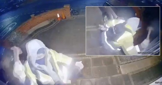Man with hammer smashes windows of elderly couple's home