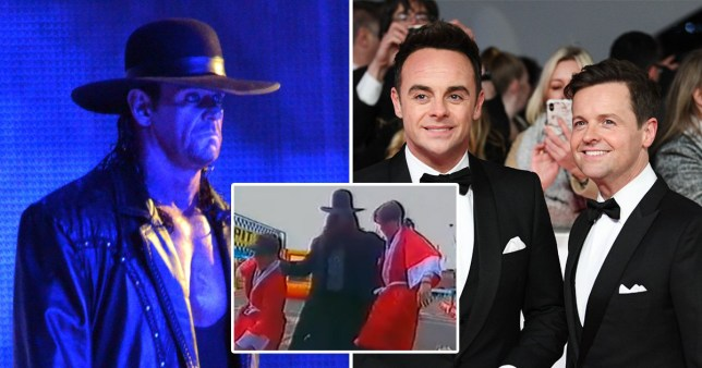 The Undertaker takes out Ant and Dec on ITV's Gimme 5