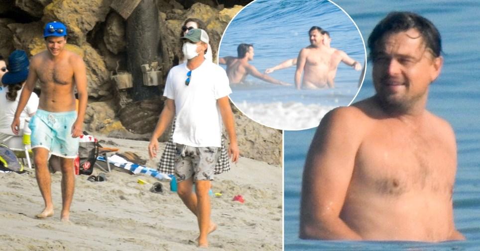 Leonardo DiCaprio enjoying a beach day