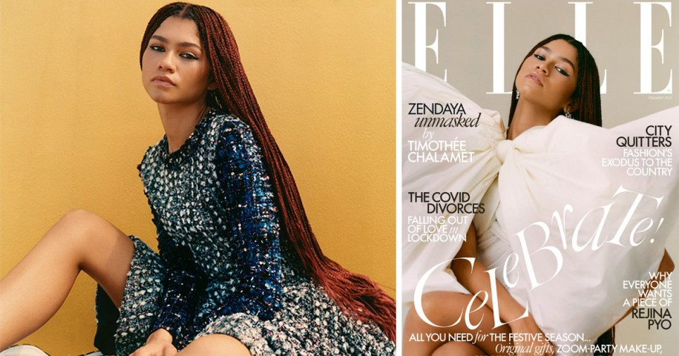 Zendaya in Elle magazine