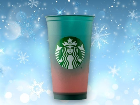 Starbucks launches a colour-changing reusable cup for Christmas