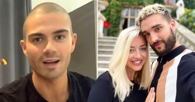 Max George and Kelsey and Tom Parker