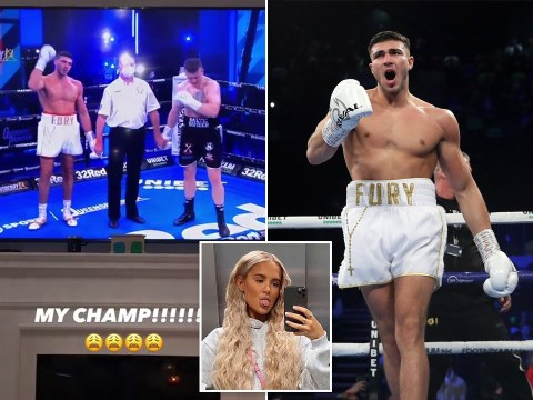 Love Island's Molly-Mae Hague cheers on 'champ' Tommy Fury after boxing win: 'Now get home to me'