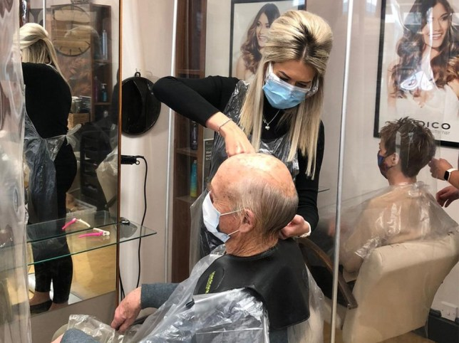 Hairdresser 'saves man's life' after recognizing cancerous lump behind his ear