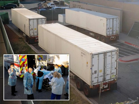 Texas uses refrigerated lorries as morgues as Covid cases top 1,100,000