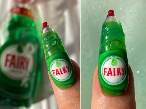 Fairy liquid nails are the latest beauty trend to capture the spirit of 2020