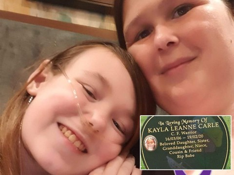 Family fights to keep photo of daughter, 13, doing 'rude' gesture on her gravestone