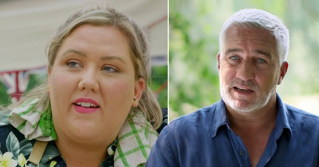 Paul Hollywood pictured alongside Great British Bake Off contestant Laura