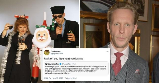 The Pogues name Laurence Fox 'herrenvolk s***e' in savage tweet