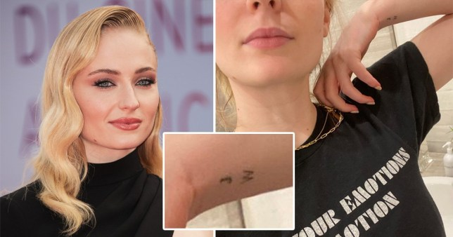 Sophie Turner pictured with new W tattoo on wrist