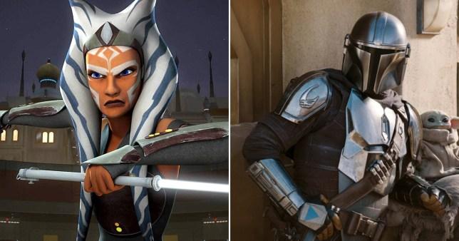 Star Wars character Ahsoka Tano and The Mandalorian