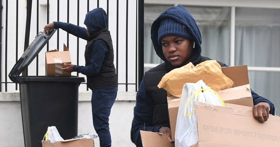 Strictly's Nicola Adams seen taking the bins out