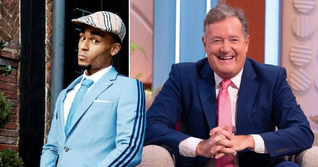 Munya Chawawa and Piers Morgan