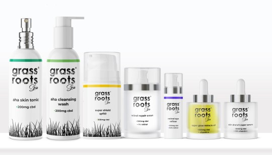 Grass Roots CBD Skincare, from £28.99