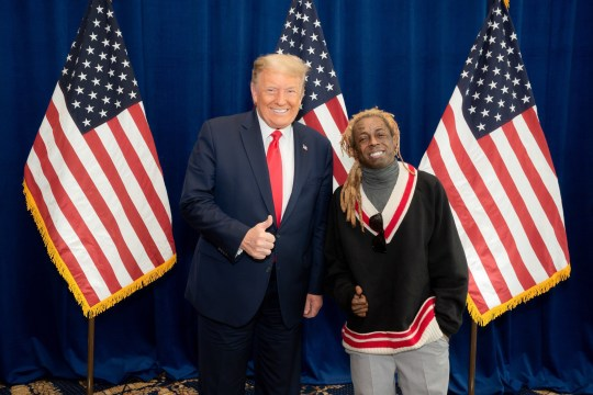 Lil Wayne meeting Donald Trump