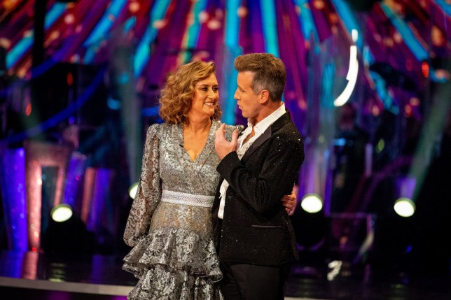 EMBARGOED TO 2000 SUNDAY NOVEMBER 01 For use in UK, Ireland or Benelux countries only BBC handout photo of Jacqui Smith and Anton Du Beke during the results show for the BBC1 dancing contest, Strictly Come Dancing. PA Photo. Issue date: Sunday November 01, 2020. Jacqui Smith has become the first celebrity to depart the dance floor on Strictly Come Dancing. The former home secretary, 57, faced reality TV regular Jamie Laing in the dance-off on Sunday night after failing to impress the judges or secure the public vote. See PA story SHOWBIZ Strictly. Photo credit should read: Guy Levy/BBC/PA Wire NOTE TO EDITORS: Not for use more than 21 days after issue. You may use this picture without charge only for the purpose of publicising or reporting on current BBC programming, personnel or other BBC output or activity within 21 days of issue. Any use after that time MUST be cleared through BBC Picture Publicity. Please credit the image to the BBC and any named photographer or independent programme maker, as described in the caption.