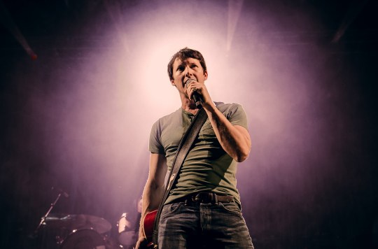 CARDIFF, WALES - FEBRUARY 21: James Blunt performs at Motorpoint Arena on February 21, 2020 in Cardiff, Wales. (Photo by Mike Lewis Photography/Redferns)