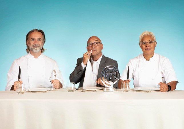 Masterchef professionals judges Gregg Wallace, Marcus Wareing and Monica Galetti