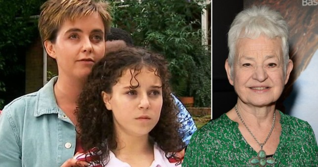 Cam and Tracy (Lisa Coleman and Dani Harmer) in Tracy Beaker and author Jacqueline Wilson