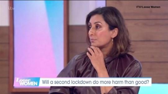 Loose women - Saira's lockdown plea (Picture: ITV)