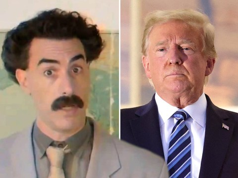 Borat shares 'emergency voting informations' for women of America to stop 'glorious Premier Trump' from losing