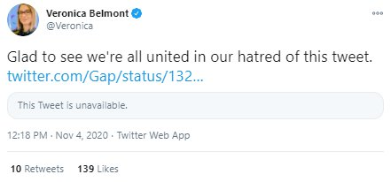 Tweet saying 'we're all united in our hatred of this tweet'